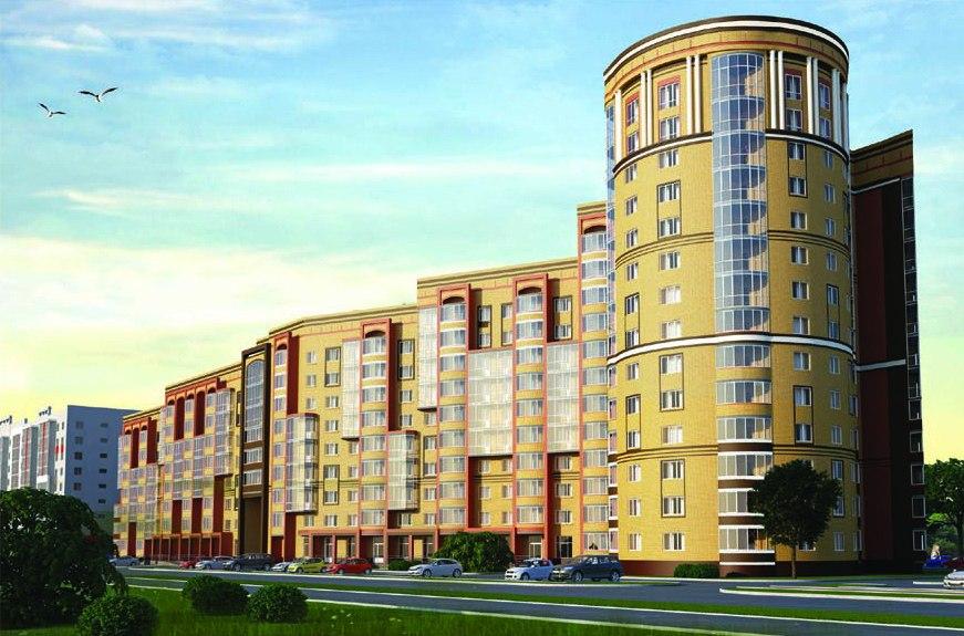 7-14-этажный жилой дом по улице Ломоносова