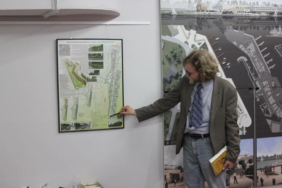 Андрей Гаврюшкин комментирует проект парка на улице Коровникова