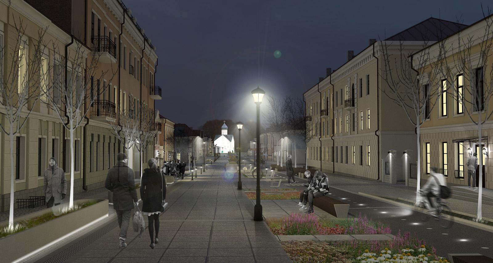 Ильина улица в ночное время