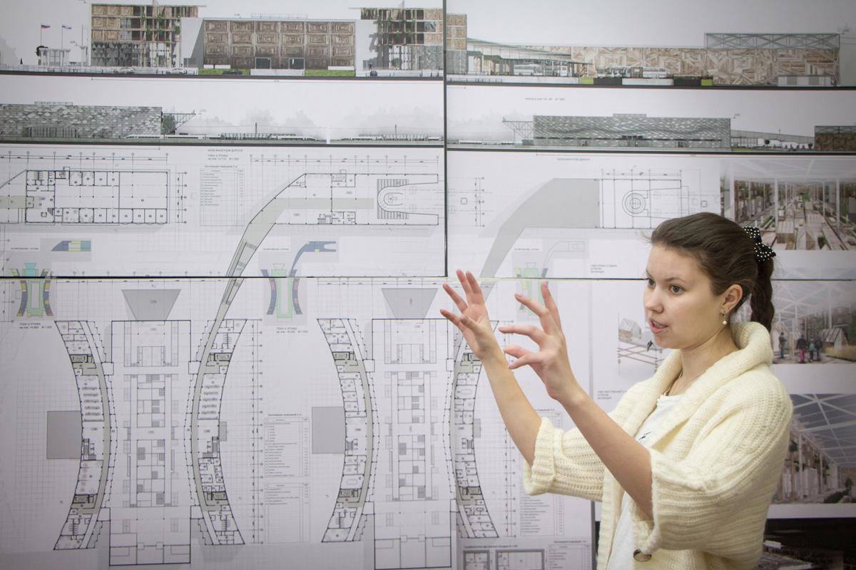 Объединенный пассажирский терминал в Великом Новгороде. Алина Малышева