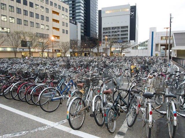 Велопарковка в Стокгольме