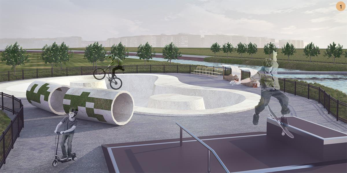 Визуализация скейт-парка