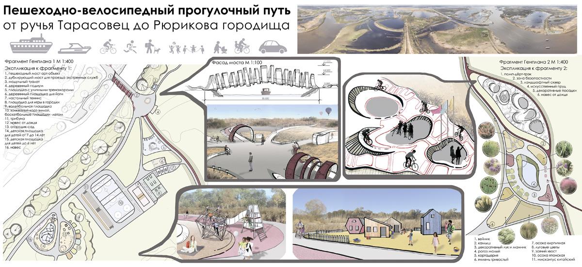 Пешеходный мост арт-объект через Тарасовец
