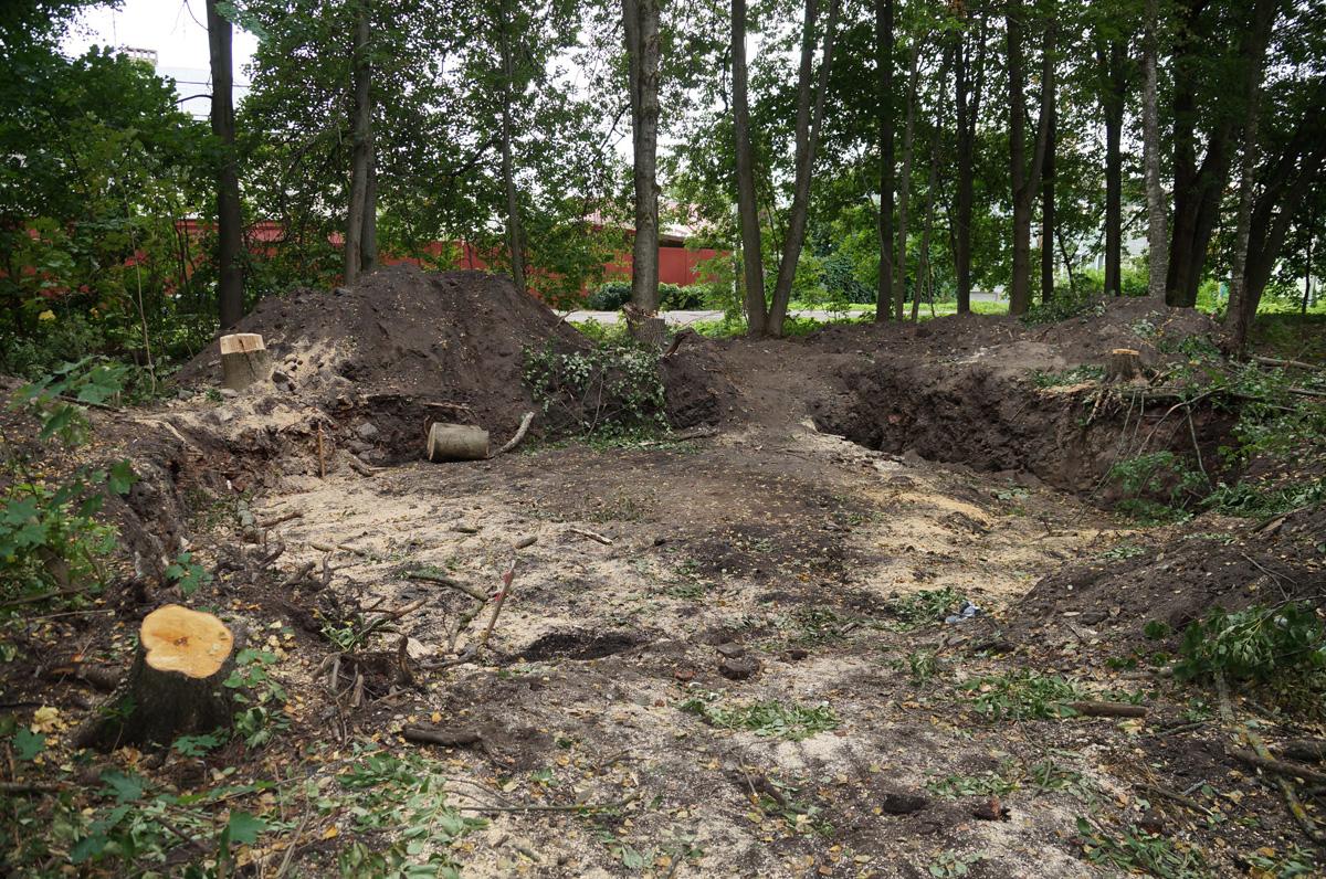 Раскопки на территории Славенской рощи