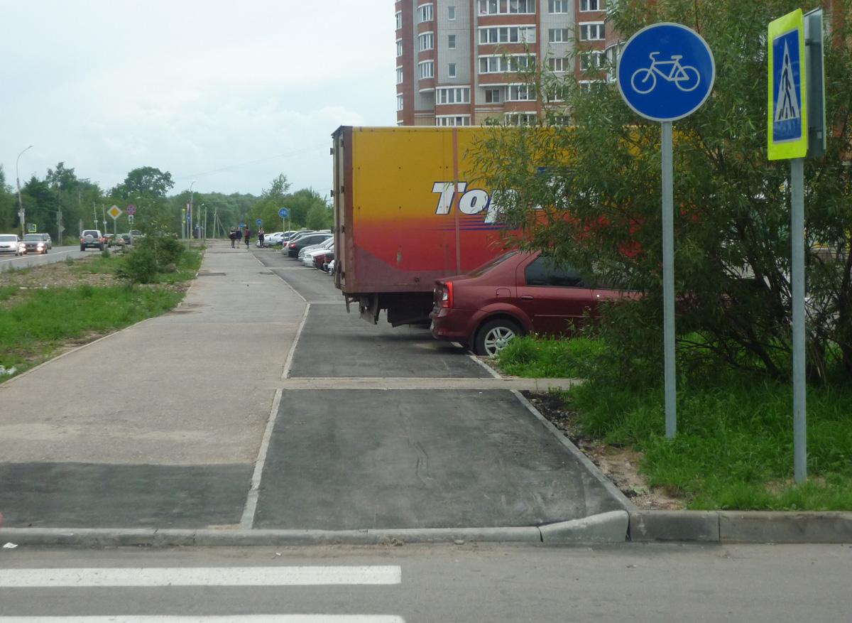 Велодорожка на Нехинской