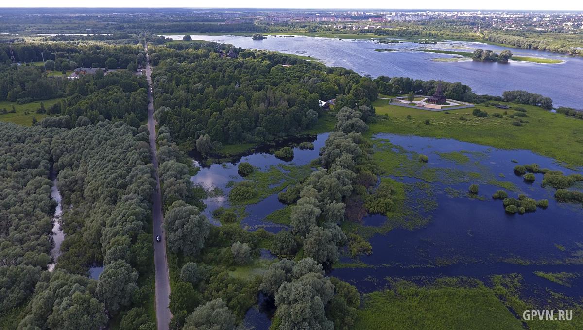 Дорога от Юрьева монастыря к Витославлицам