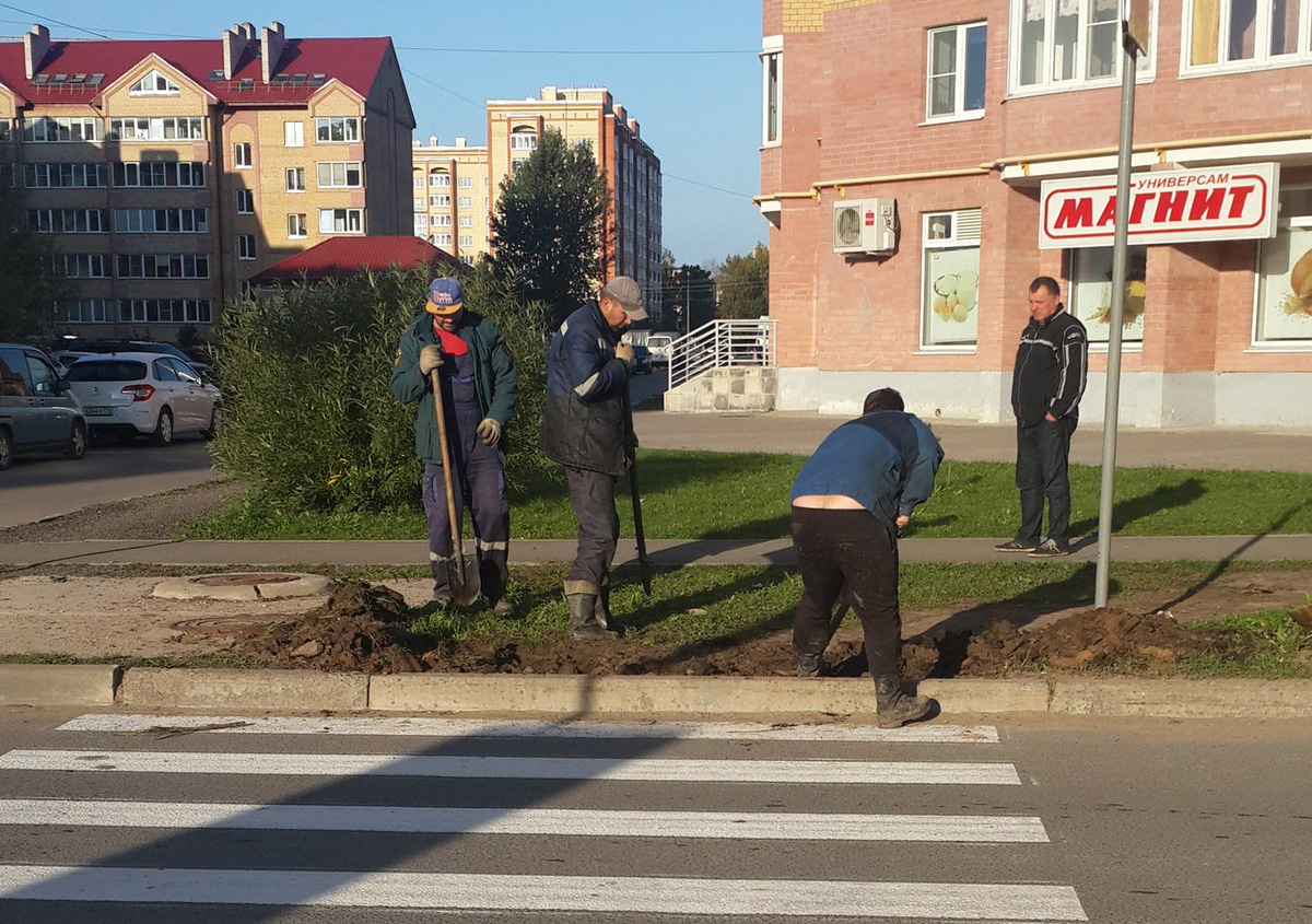 Устройство тротуара