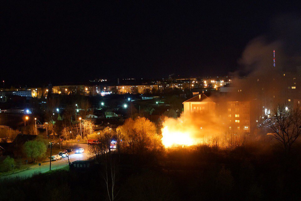 Пожар на Хутынской