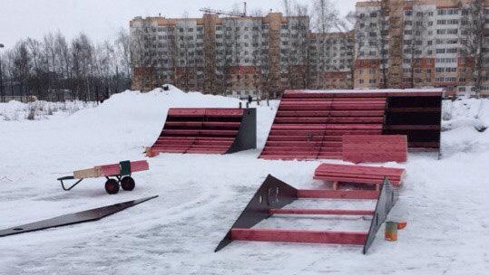 Скейт-площадка в парке Юности