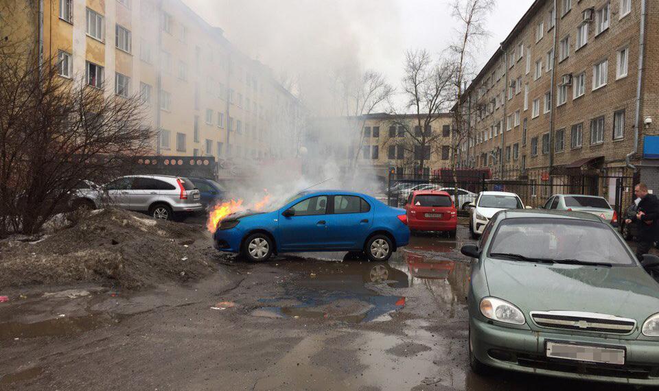 Пожар у здания налоговой службы