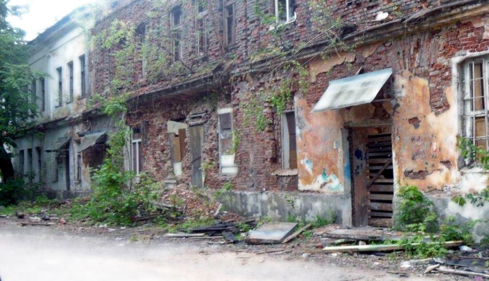 Заброшенные здания на Гзени