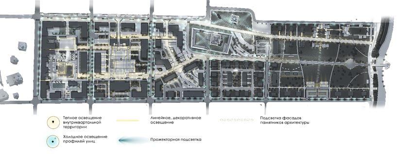 Рисунок 9. Схема вечернего освещения территории