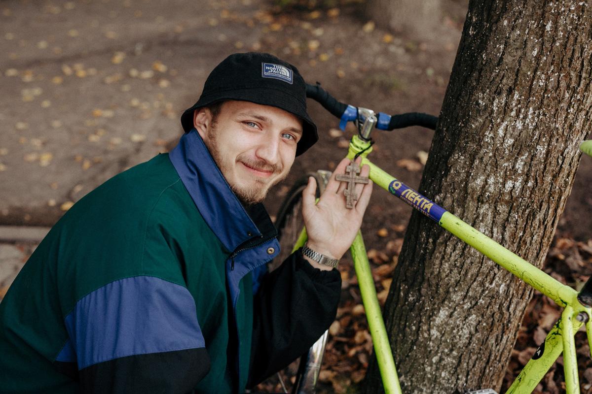 Новгородский велосипедист