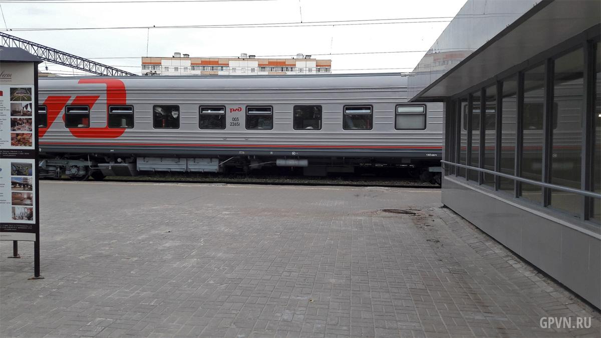 Поезд в Великом Новгороде