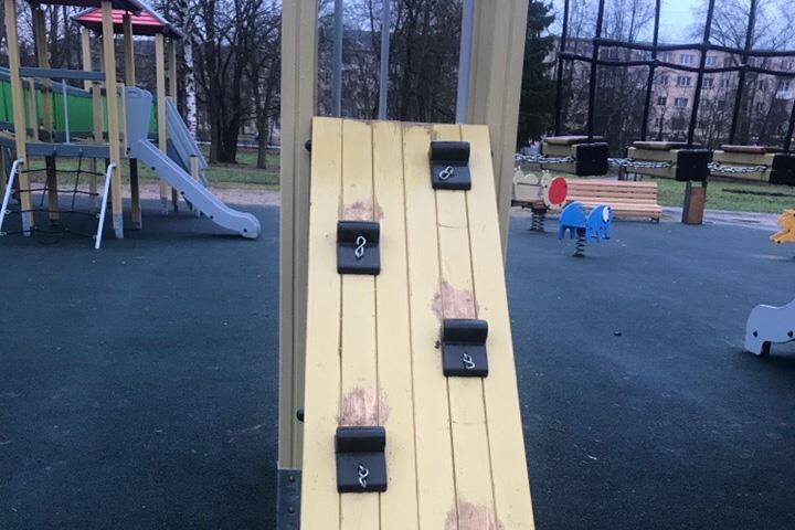 Вандализм в парке «30 лет Октября»