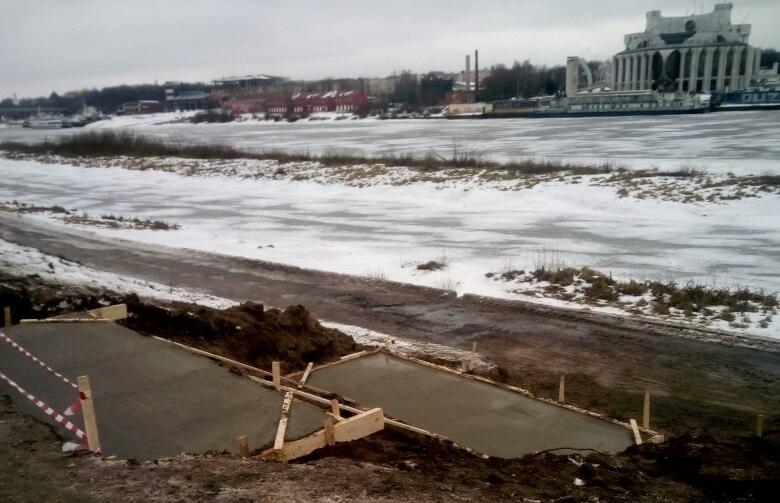 Восстановление спуска к реке