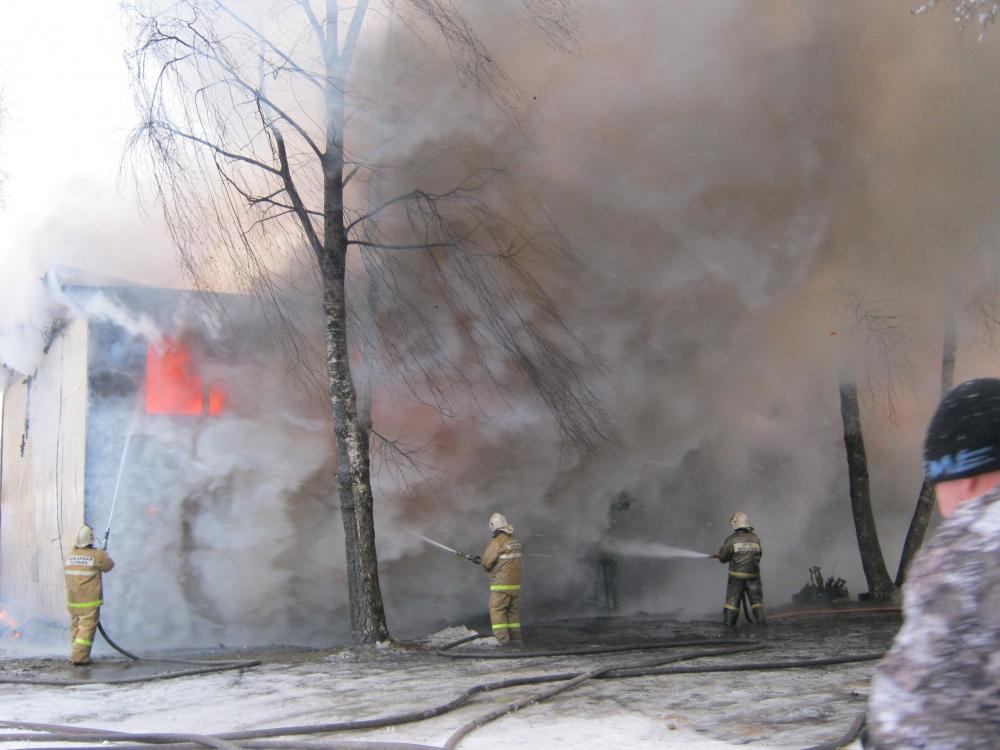 Пожар в городе Пестово