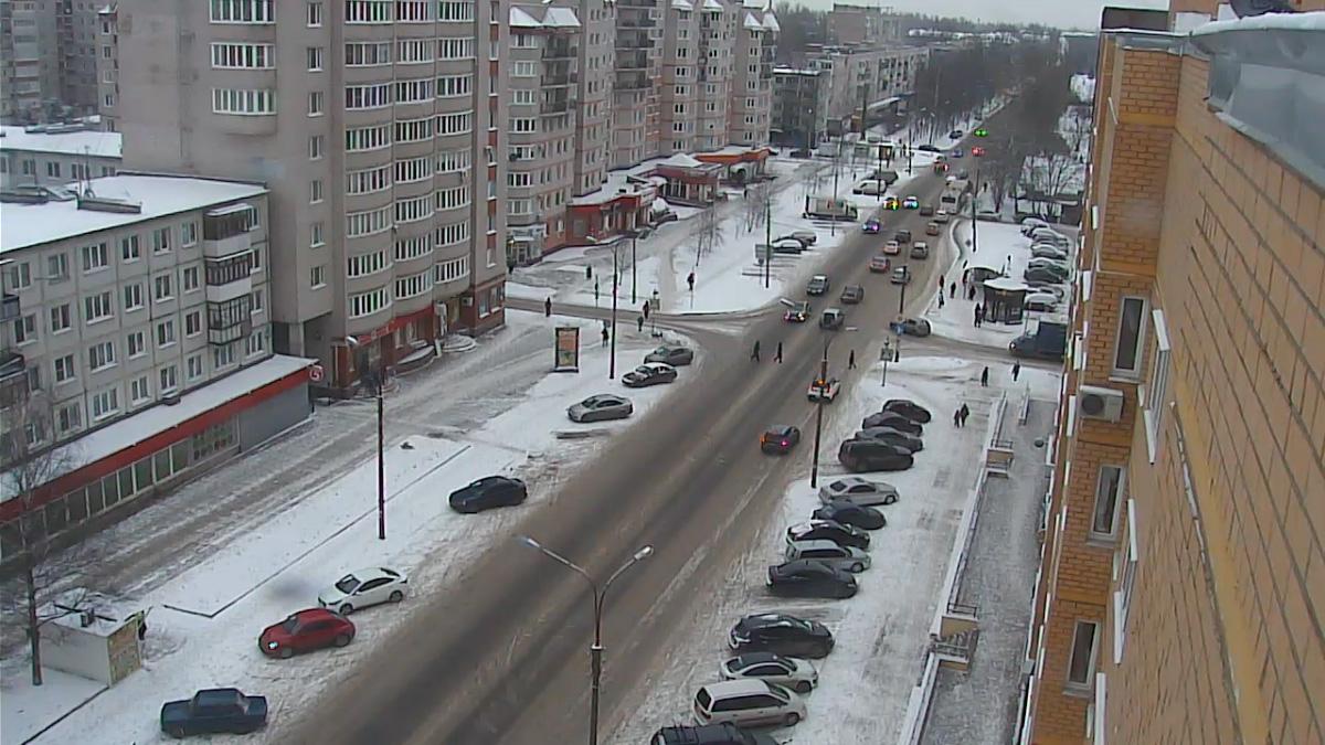 Перекрёсток улиц Псковской и Батецкой