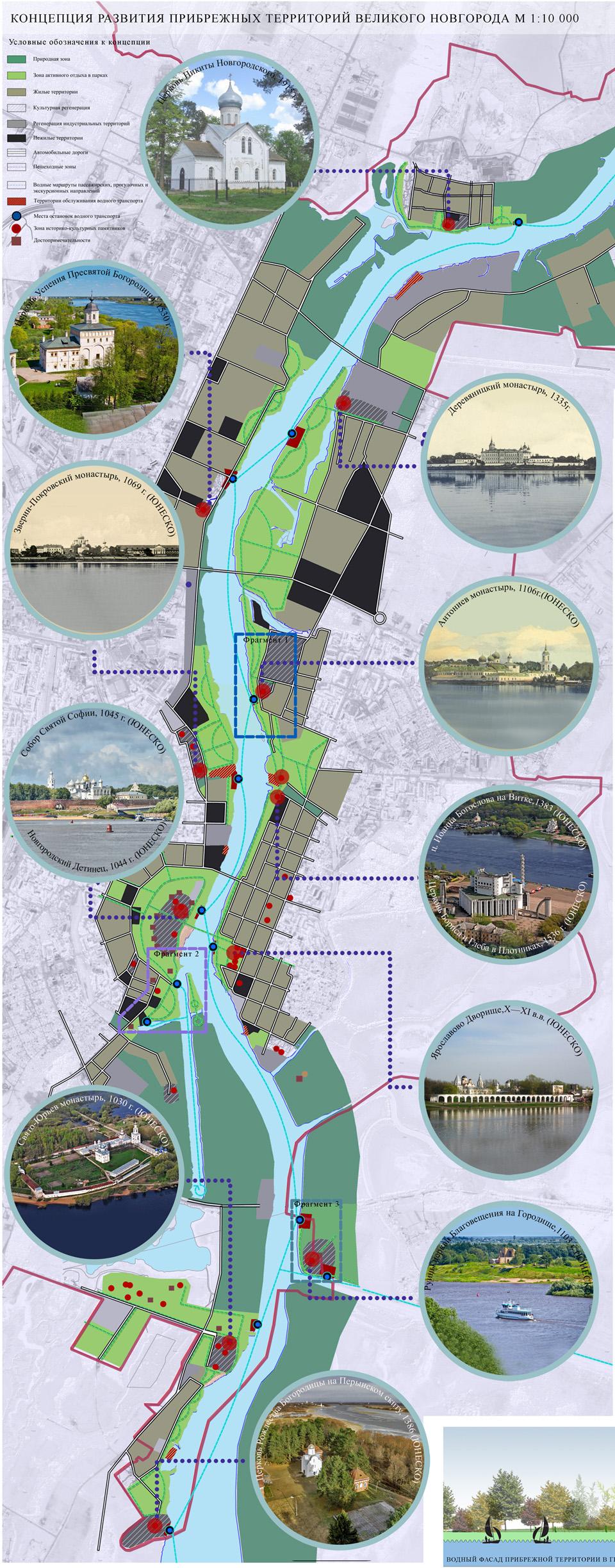 Концепция развития прибрежных территорий Великого Новгорода