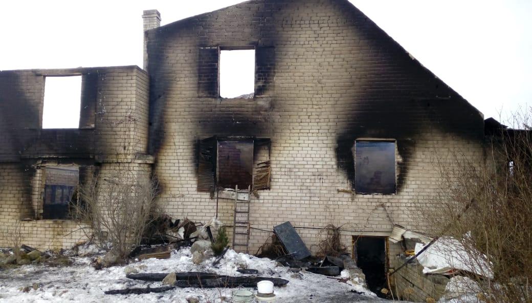 Пожар в Шимском районе