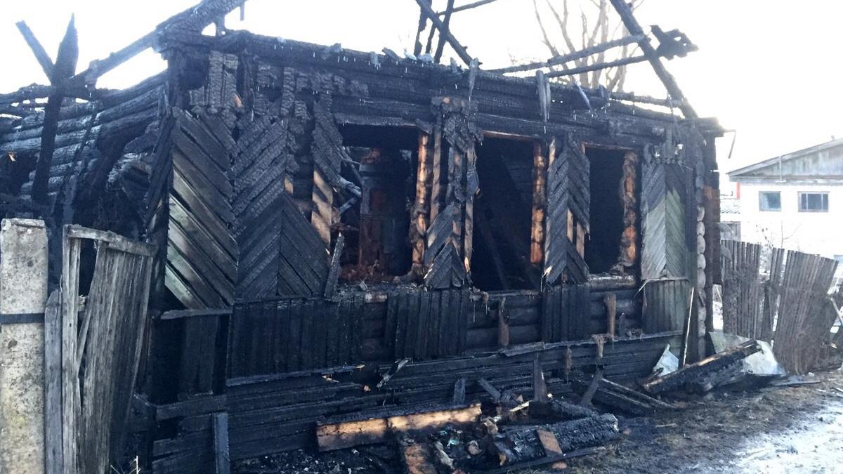 Пожар в Старой Руссе