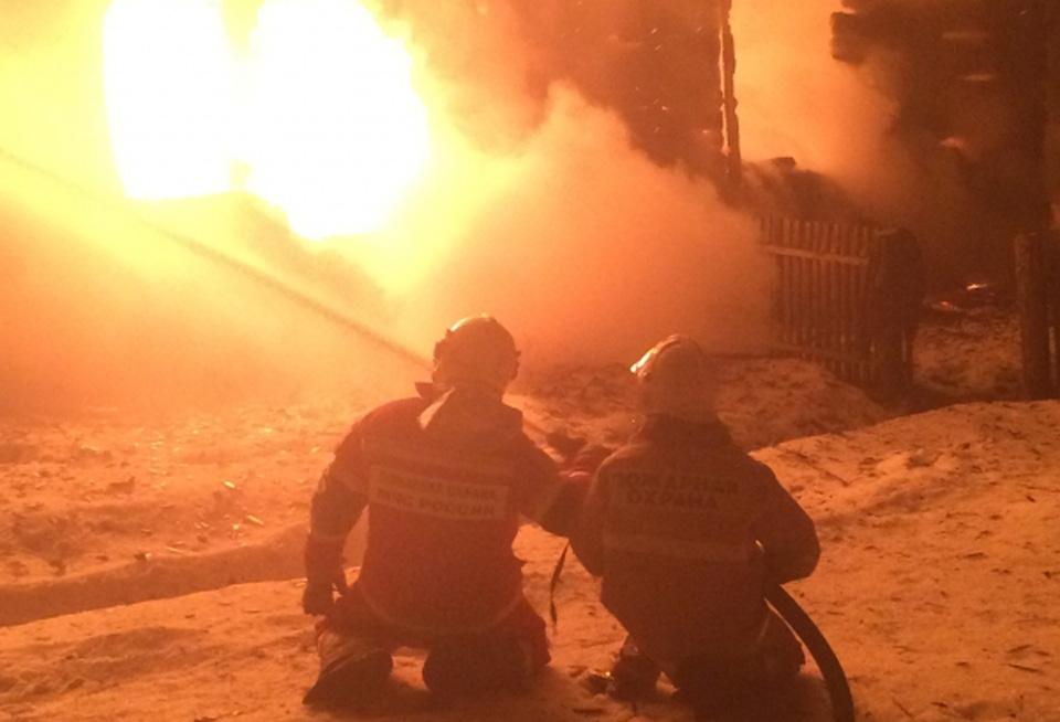 Пожар в Демянске Новгородской области