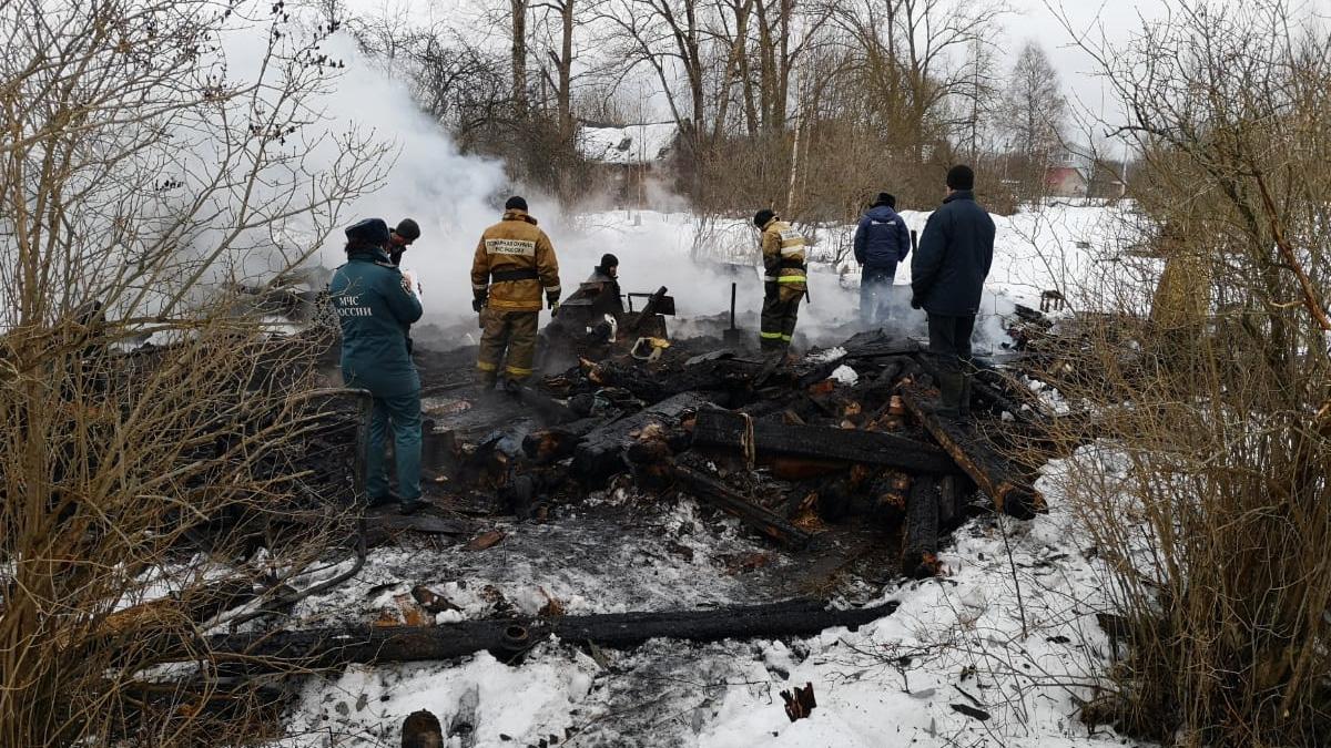 Пожар в Маловишерском районе