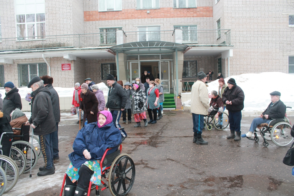Эвакуация из «Новгородского Дома ветеранов»