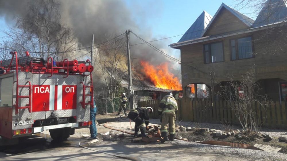Пожар на Петровской улице
