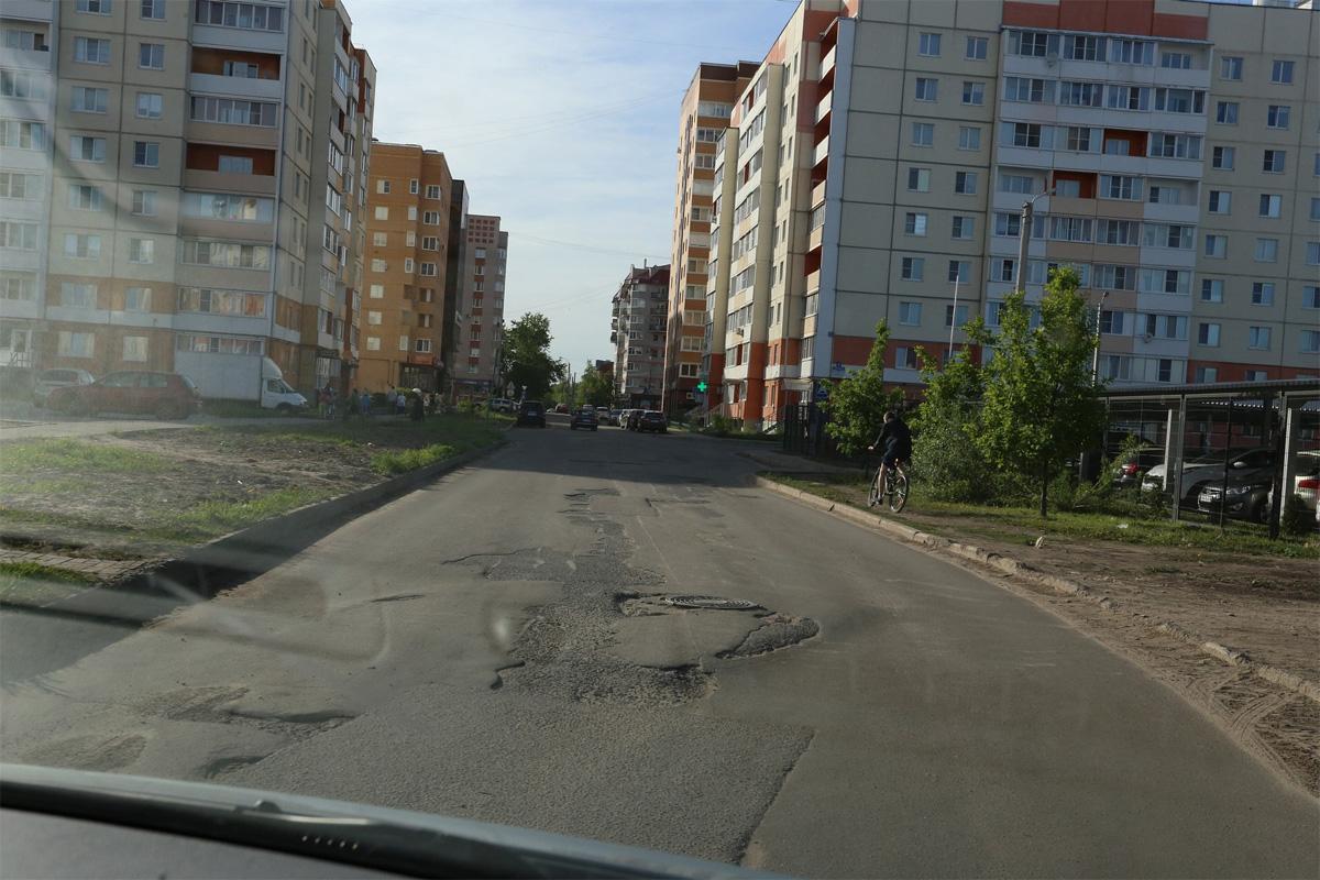 Проезжая часть в Псковском районе