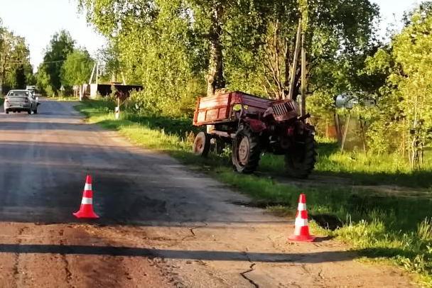 ДТП с трактором