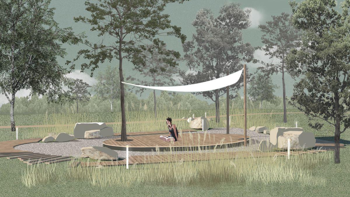Площадка для занятий йогой