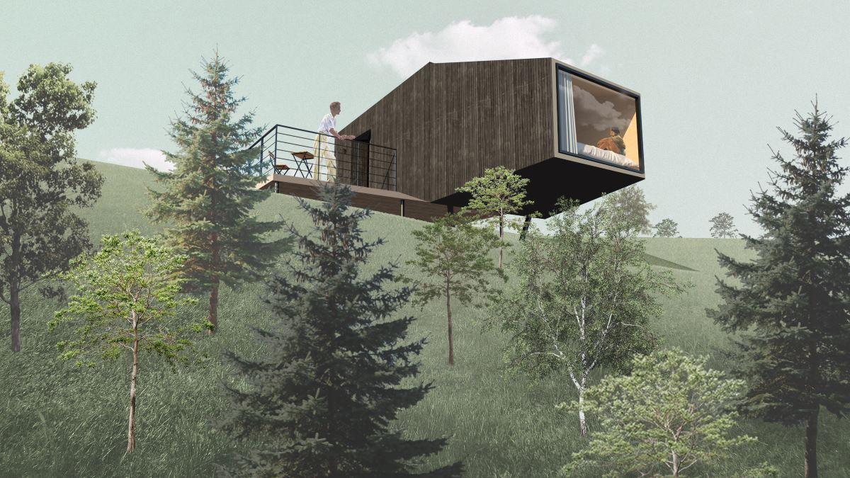 Дом S на склоне