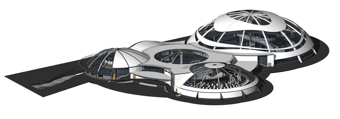Аквапарк. 3D-модель