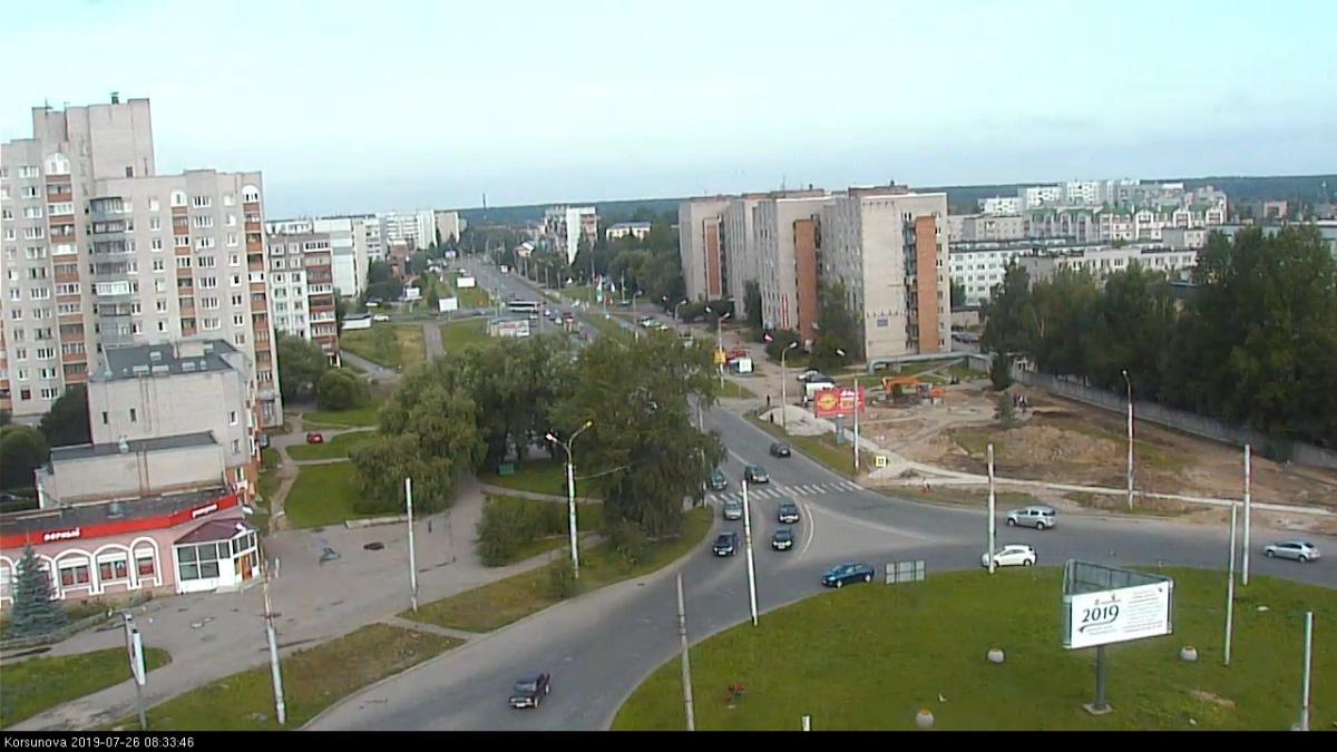 Сквер на проспекте Корсунова