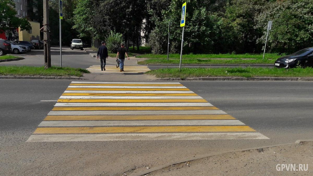 Жёлто-белая разметка