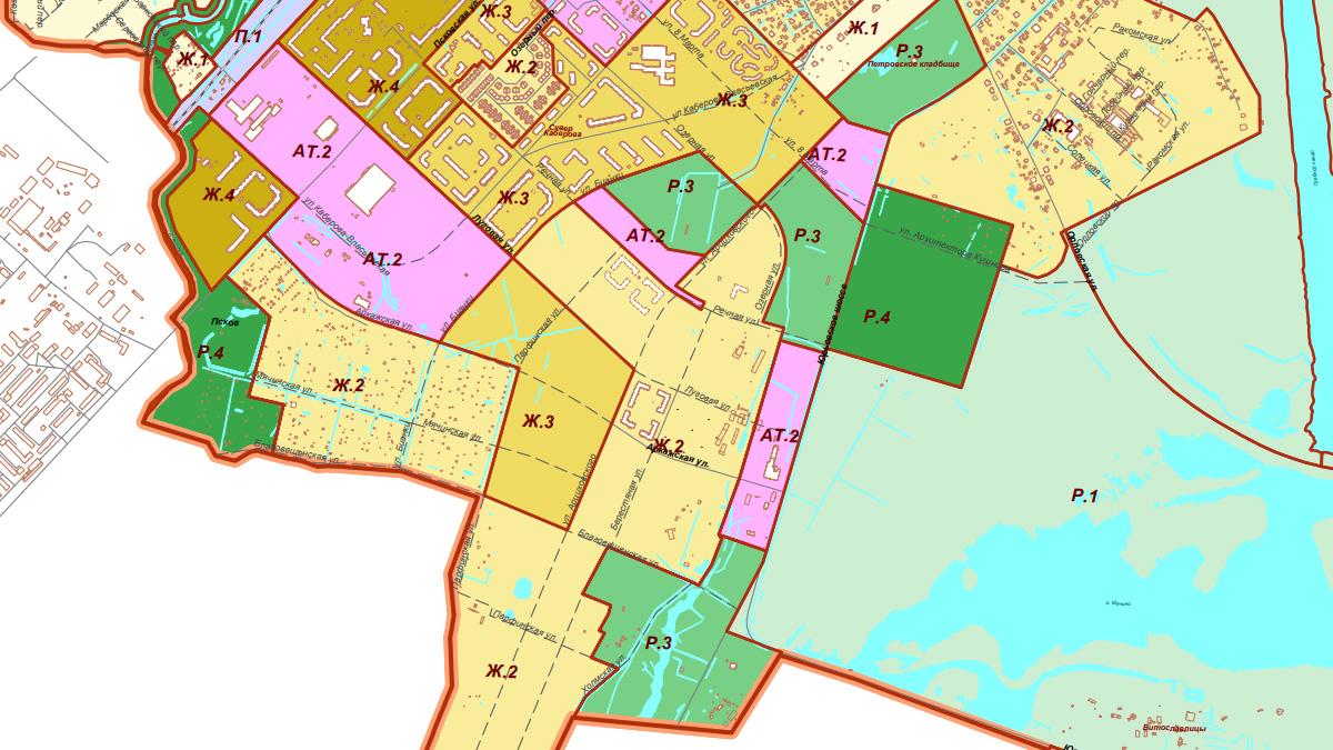 Схема градостроительного зонирования