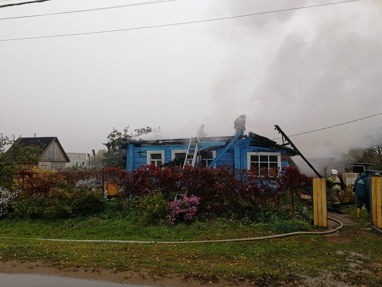 Пожар в Новгородском районе