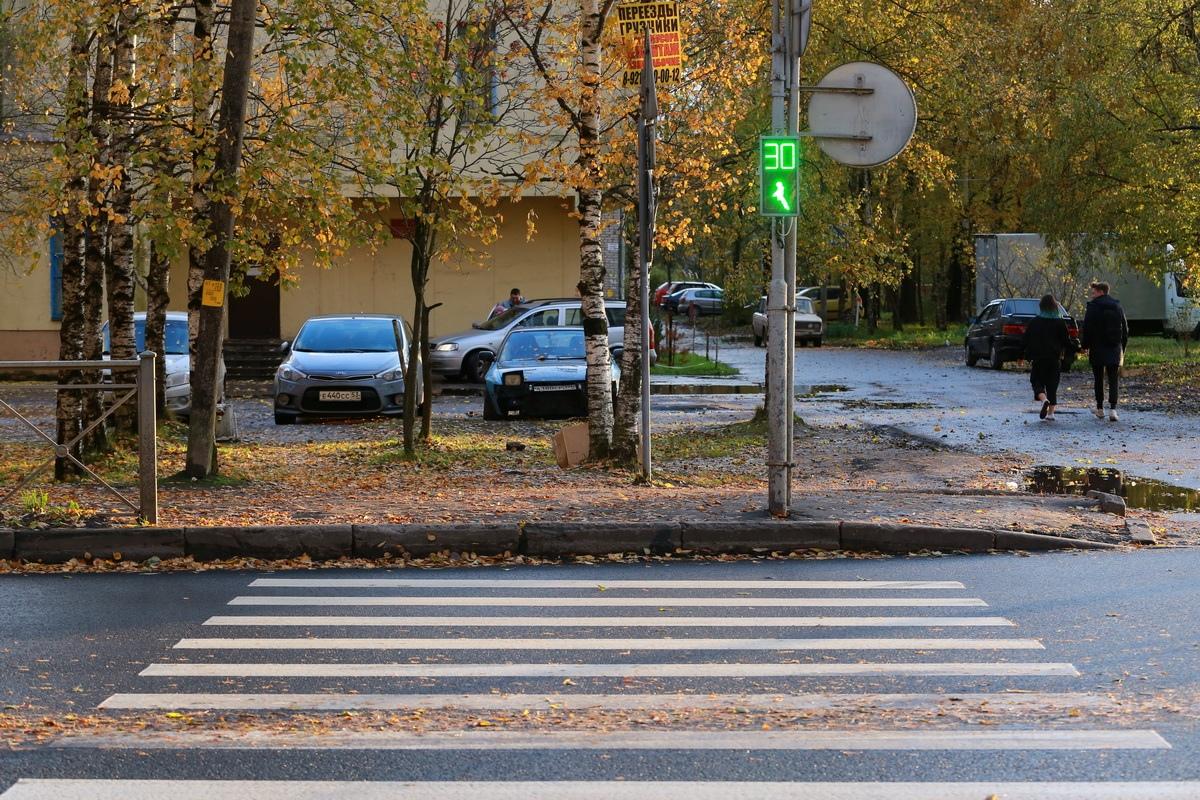 Пешеходный переход на улице Попова