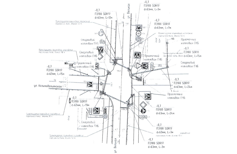 Схема перекрёстка
