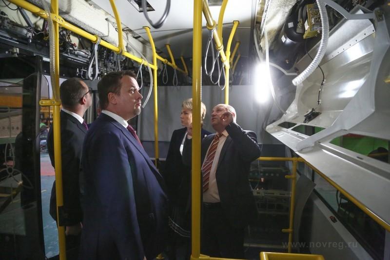 В салоне электробуса