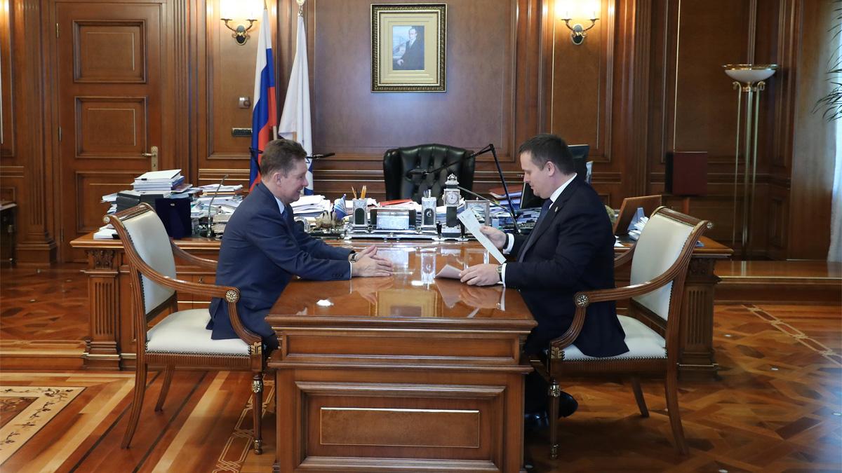 Встреча Алексея Миллера и Андрея Никитина