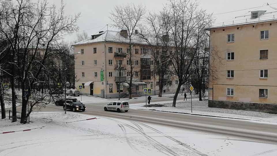 Снег в Великом Новгороде
