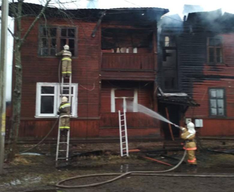 Пожар в Кулотино