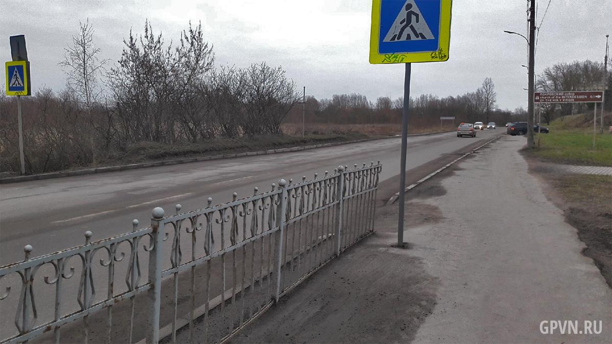 Пешеходный переход на Великой улице