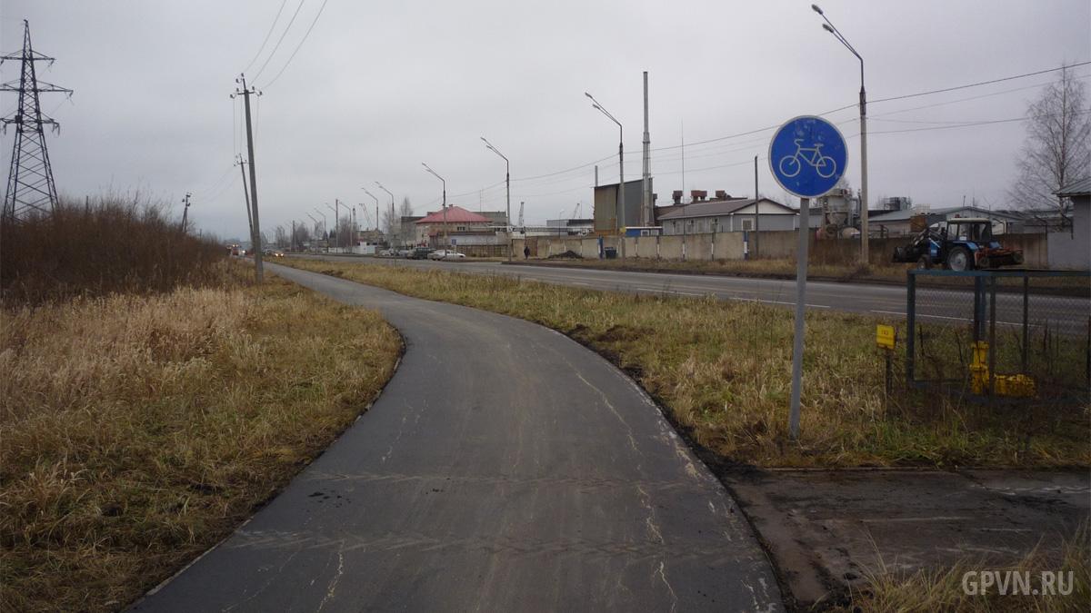 Велодорожка на Магистральной улице