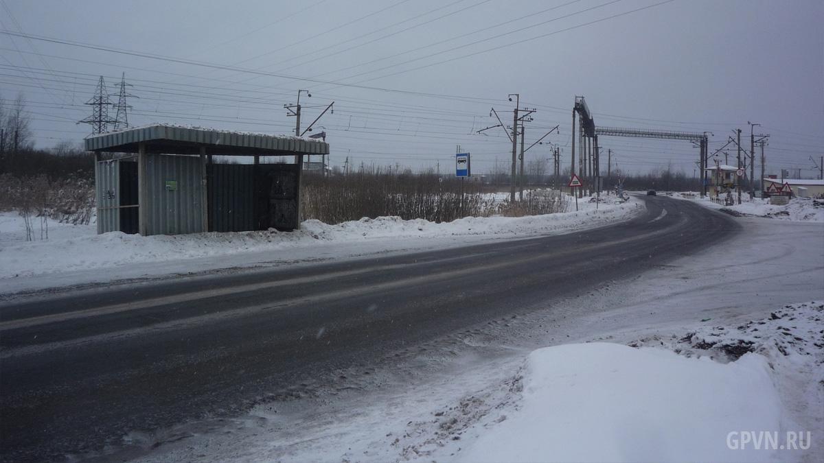Автобусная остановка на Сырковском шоссе