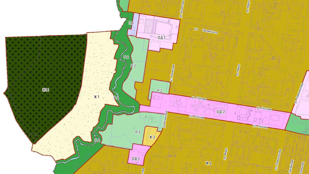 Фрагмент карты зонирования