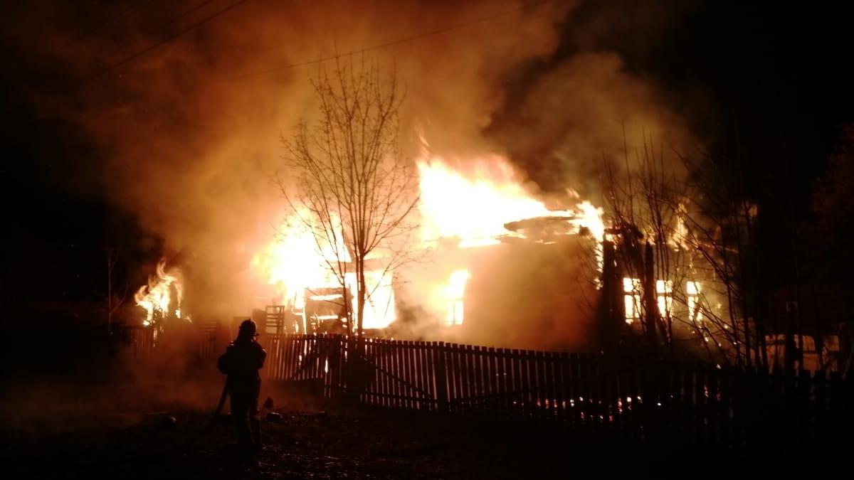 Пожар в Пестовском район