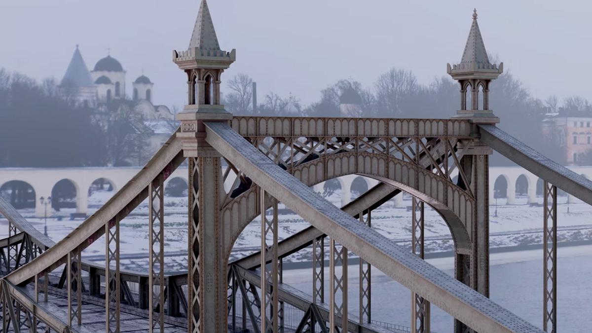 Великий мост в Новгороде